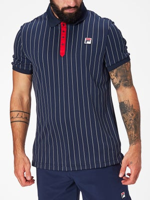 6037814a205 Polo Homme Fila Team Core Stripes - Tennis Warehouse Europe