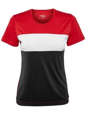 2469eb42913 Haut à Manches Courtes Femme Fila Saya Automne - Tennis Warehouse Europe