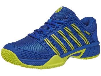 ffca7946d0c84 K-Swiss Hypercourt Express Blue/Citron Junior Shoe - Tennis ...