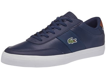 caf85c2a46e Lacoste Court Master 318 Navy Brown Men s Shoes - Tennis Warehouse ...