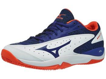 Mizuno Wave Flash Clay White/Blue Men\'s Shoes