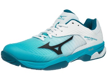 the latest 875b3 ac84c Chaussures Homme Mizuno Wave Exceed Tour 3 AC Blanc Bleu - Tennis Warehouse  Europe