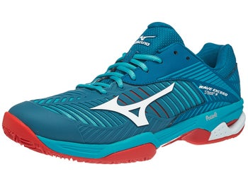brand new c8b92 7002f Chaussures Homme Mizuno Wave Exceed Tour 3 TERRE BATTUE Bleu Rouge - Tennis  Warehouse Europe