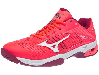 sneakers for cheap be12b c9adb Mizuno Wave Exceed Tour 3 AC Coral White Women s Shoes