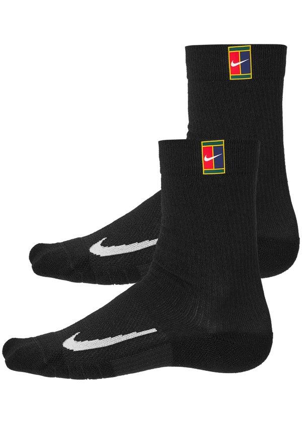 si Erradicar Edredón  Nike Multiplier 2-Pack Cushioned Crew Socks Black - Tennis Warehouse Europe