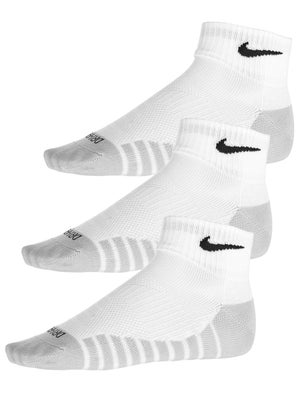 pretty nice 25f17 449f1 Nike Dry Lightweight Quarter Training Socken 3er-Pack Weiß - Tennis  Warehouse Europe