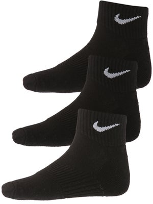 b740ab07d755 Nike Kid s Perform Cushioned Quarter 3-P Black Socks - Tennis ...