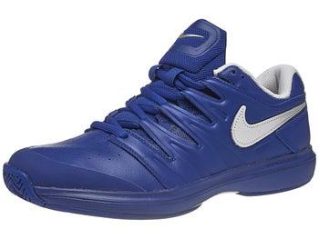 5a8533a388d1e6 Nike Air Zoom Prestige Leather Indigo/Silver Men's Shoe - Tennis ...