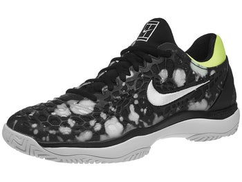 premium selection 39f5e 53a60 Chaussures Homme Nike Air Zoom Cage 3 HC Noir Blanc Jaune Volt - Tennis  Warehouse Europe