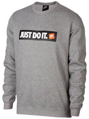 390ffd4d3b19 Nike Men s Fall Just Do It Fleece Crew Sweater - Tennis Warehouse Europe