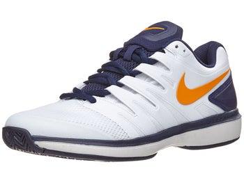 meet 5b969 fac78 Chaussures Homme Nike Air Zoom Prestige Blanc Bleu Marine Orange