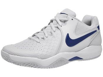 new arrivals 0a077 54a29 Nike Air Zoom Resistance Grey/Indigo Men's Shoe - Tennis Warehouse ...
