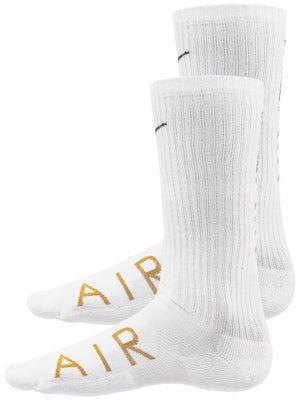4eed8a0666ade 2 Paires de Chaussettes Techniques Nike Swoosh Cushion Blanc/Or - Tennis  Warehouse Europe
