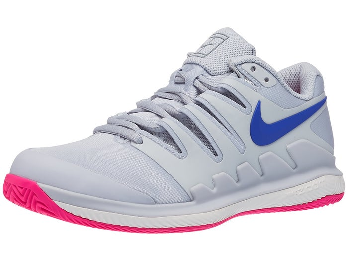 lace up in later timeless design Chaussures Femme Nike Air Zoom Vapor X TERRE BATTUE Bleu/Platinium ...