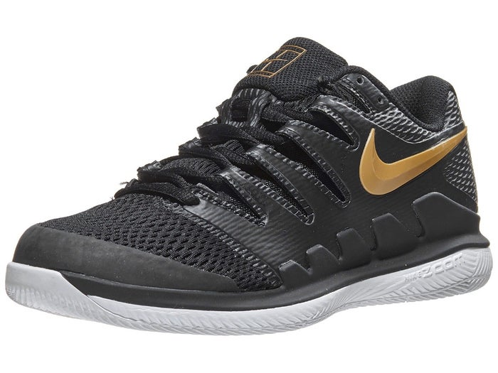 the latest huge discount new lower prices Nike Air Zoom Vapor X Black/Gold Women's Shoe - Tennis ...