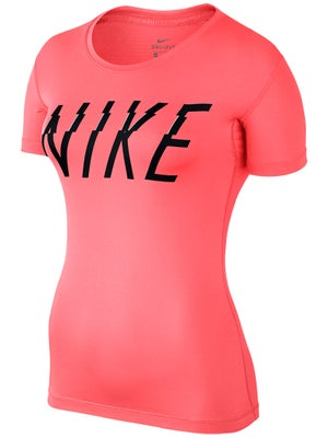 Camiseta Manga Corta Mujer Nike Pro Graphic Primavera - Tennis Warehouse  Europe 66bc9e88e25d0
