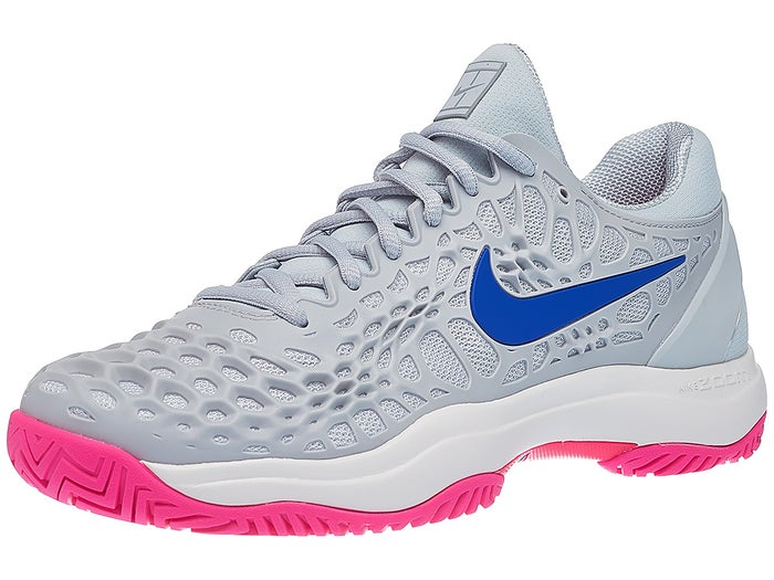 hot sales special for shoe the cheapest Nike Air Zoom Cage 3 Damen Tennisschuh Platinum/Blau/Pink ...