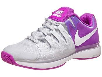 huge selection of 07669 20e13 Nike Zoom Vapor 9.5 Tour Damen Tennisschuh Lila Grau Weiß