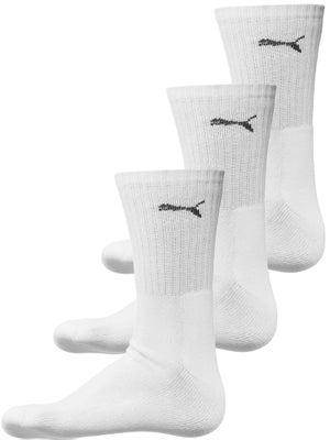 2916055fb140 Puma Sport 3-Pack White Crew Socks - Tennis Warehouse Europe