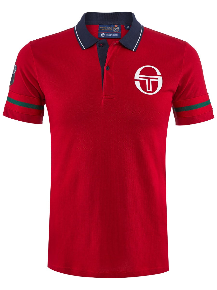 Sergio Tacchini Girls Sports Tennis Polo Shirt Short Sleeve Cotton