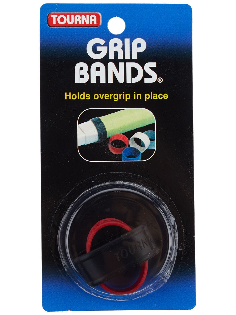 Unique Tourna Tennis Racquet Silicone Grip Bands-To Hold Replacement-Overgrip