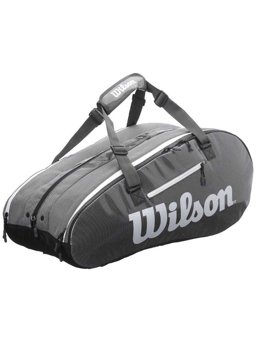 Wilson Super Tour 3 Compartment Tennis Bag Black//Grey